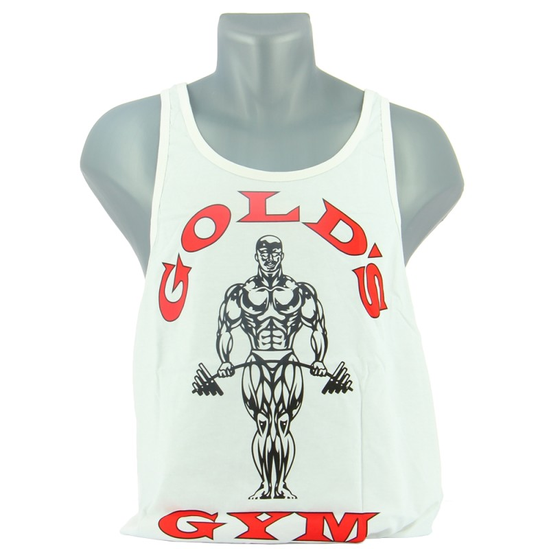 GOLD'S GYM MUSCLE JOE PREMIUM STRINGER Blanc Vêtements et Accessoires GOLD'S GYM