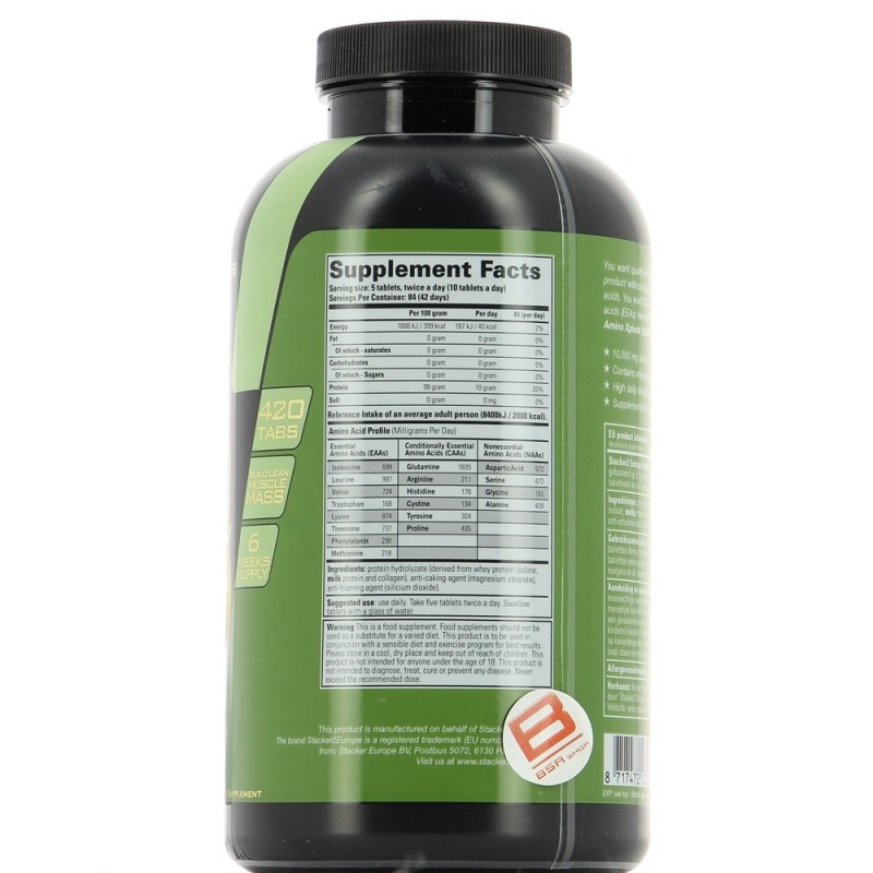 STACKER2 AMINO XPLODE 10,000 Acides Aminés STACKER