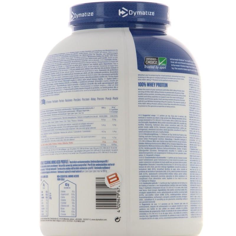DYMATIZE ELITE 100% WHEY PROTEIN Protéines Whey DYMATIZE