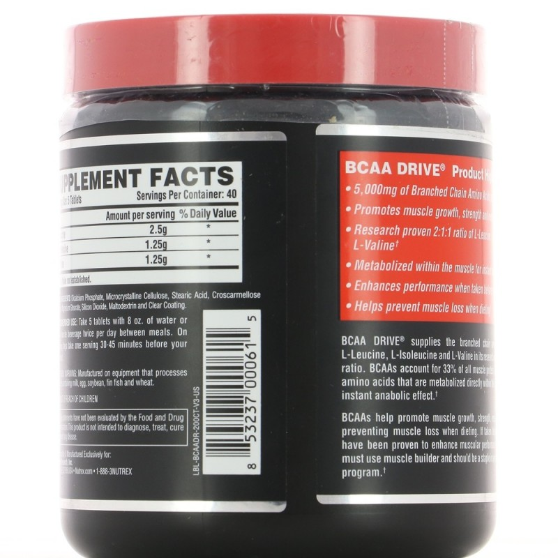 NUTREX BLACK BCAA DRIVE Construction musculaire NUTREX RESEARCH