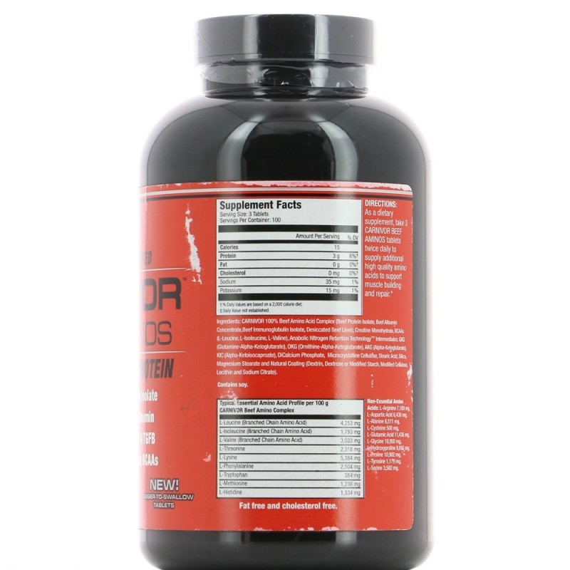 MUSCLEMEDS CARNIVOR BEEF AMINOS Construction musculaire MUSCLEMEDS