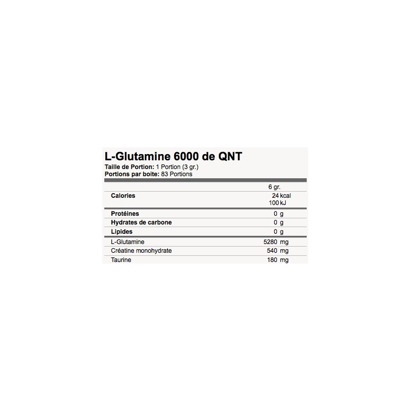 QNT LGLUTAMINE Glutamine QNT Sport