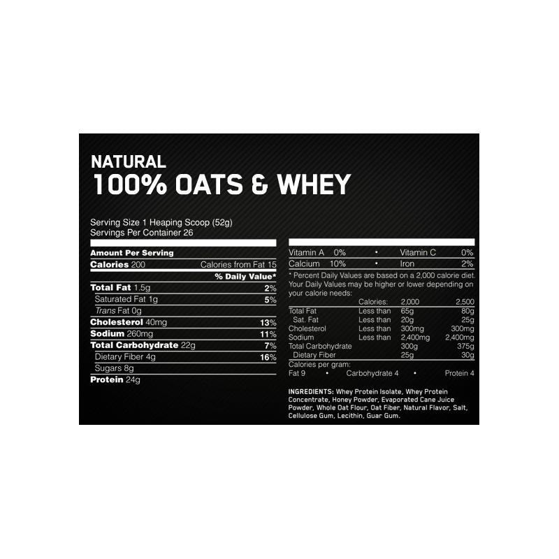 OPTIMUM NUTRITION 100% OATS&WHEY Petit déjeuner OPTIMUM NUTRITION